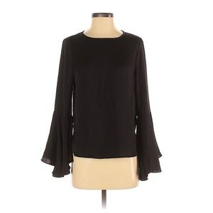 Who What Wear Basic Bell Flare Sleeve Blouse